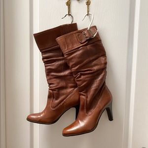 Brazilian Brown Leather Heeled Boots